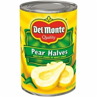 Canned Fruit, Del Monte® Bartlett Pear Halves in Heavy Syrup (15.25 oz Can)