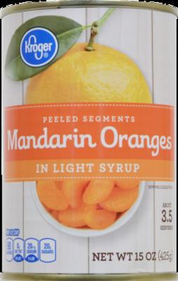 Canned Fruit, Kroger® Mandarin Oranges in Light Syrup (15 oz Can)