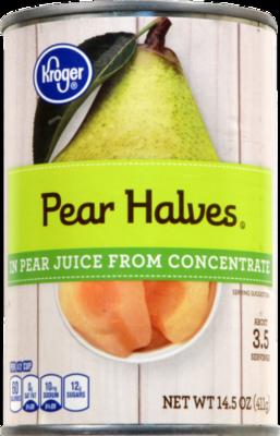 Canned Fruit, Kroger® Pear Halves in Pear Juice (15.25 oz Can)
