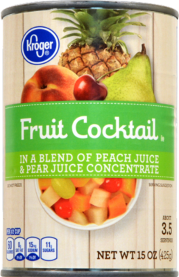 Canned Fruit, Kroger® Fruit Cocktail in Peach & Pear Juice (15 oz Can)