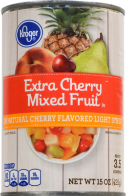 Canned Fruit, Kroger® Extra Cherry Mixed Fruit (15 oz Can)
