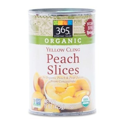 Canned Fruit, 365® Organic Yellow Peach Slices in 100% Fruit Juice (15 oz Can)