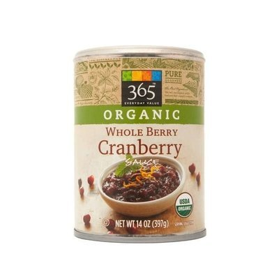 Canned Fruit, 365® Organic Whole Berry Cranberry Sauce (14 oz Can)