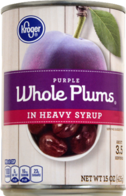 Canned Fruit, Kroger® Purple Whole Plums in Heavy Syrup (15.25 oz Can)