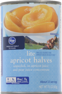 Canned Fruit, Kroger® Unpeeled Apricot Halves in Juice (15 oz Can)