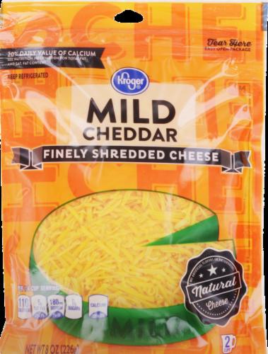 Shredded Cheese, Kroger® Finely Shredded Mild Cheddar Cheese (8 oz Resealable Bag)