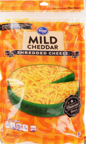 Shredded Cheese, Kroger® Shredded Mild Cheddar Cheese (16 oz Resealable Bag)