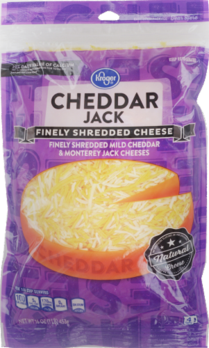 Shredded Cheese, Kroger® Finely Shredded Cheddar Jack Cheese (16 oz Resealable Bag)
