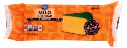 Cheese Block, Kroger® Block of Mild Cheddar Cheese (8 oz Bag)