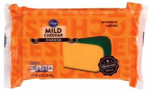 Cheese Block, Kroger® Block of Mild Cheddar Cheese (16 oz Bag)