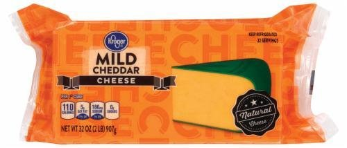 Cheese Block, Kroger® Block of Mild Cheddar Cheese (32 oz Bag)