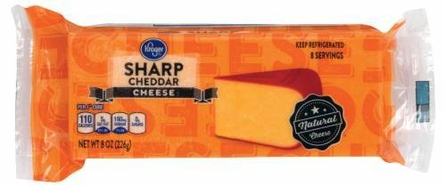 Cheese Block, Kroger® Block of Sharp Cheddar Cheese (8 oz Bag)