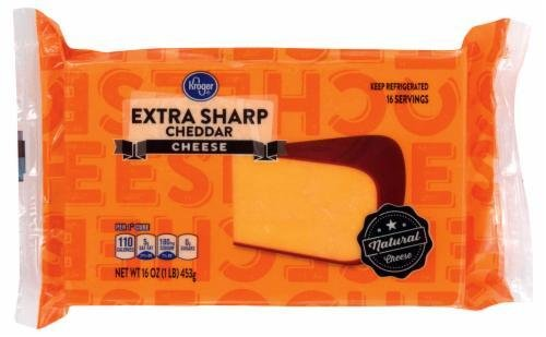 Cheese Block, Kroger® Block of Extra Sharp Cheddar Cheese (16 oz Bag)