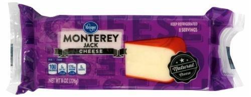 Cheese Block, Kroger® Block of Monterey Jack Cheese (8 oz Bag)
