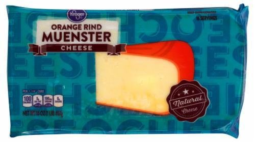 Cheese Block, Kroger® Block of Orange Rind Muenster Cheese (16 oz Bag)