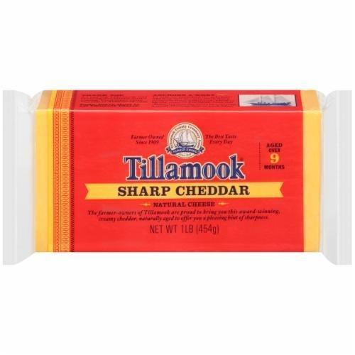 Cheese Block, Tillamook® Block of Sharp Cheddar Cheese (16 oz Bag)