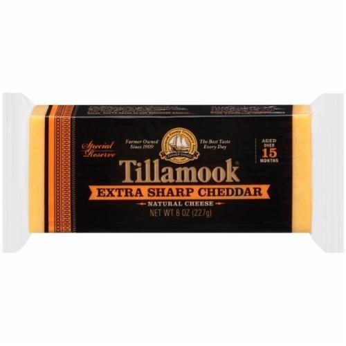 Cheese Block, Tillamook® Block of Extra Sharp Cheddar Cheese (8 oz Bag)
