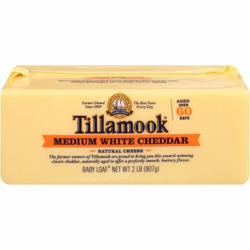 Cheese Block, Tillamook® Block of Medium White Cheddar Cheese (32 oz Bag)