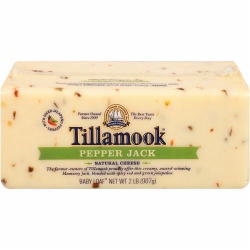 Cheese Block, Tillamook® Block of Pepper Jack Cheese (32 oz Bag)