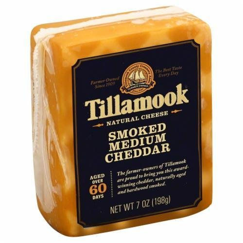Cheese Block, Tillamook® Block of Smoked Medium Cheddar Cheese (7 oz Bag)
