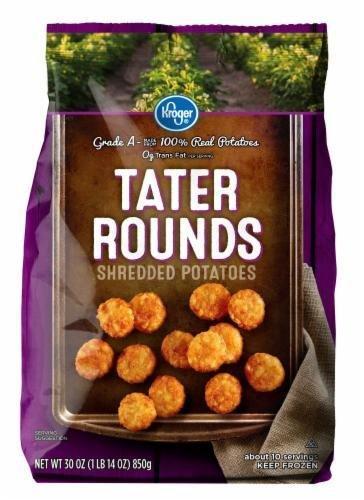 "Frozen Potatoes, Kroger® ""Tater Rounds"" Shredded Potatoes (30 oz Bag)"