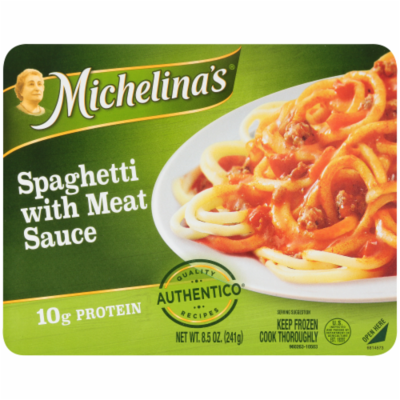 Frozen Dinner, Michelina's® Spaghetti with Meat Sauce (8.5 oz Box)