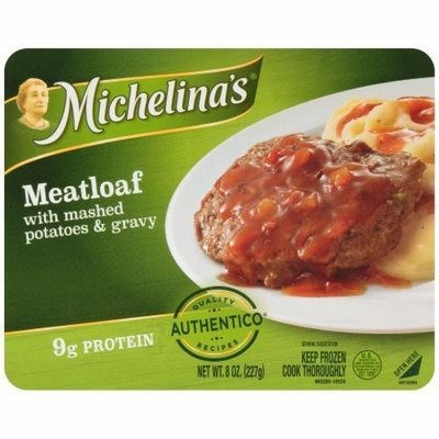 Frozen Dinner, Michelina's® Meatloaf with Mashed Potatoes & Gravy (8 oz Box)