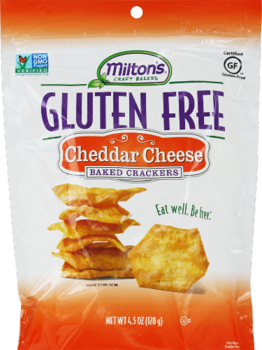 Crackers, Milton's® Gluten Free Cheddar Baked Crackers (4.5 oz Bag)
