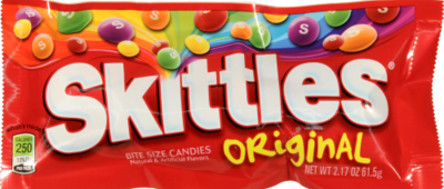 Candy, Wrigley® Skittles® Candy (2.17 oz Bag)