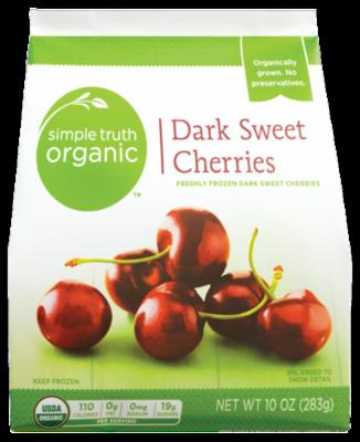 Frozen Fruit, Simple Truth Organic™ Dark Sweet Cherries (10 oz Bag)