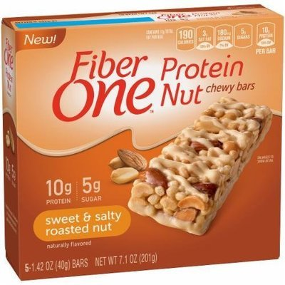 Cereal Bars, General Mills® Fiber One® Sweet & Salty Roasted Nut Protein Bars (7.1 oz Box)