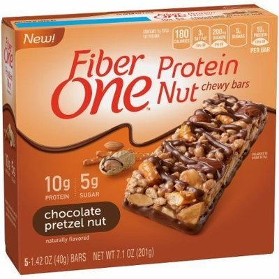 Cereal Bars, General Mills® Fiber One® Chocolate Pretzel Nut Protein Bars (7.1 oz Box)