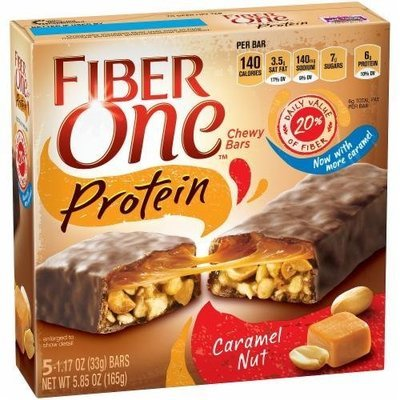 Cereal Bars, General Mills® Fiber One® Caramel Nut Protein Bars (5.85 oz Box)