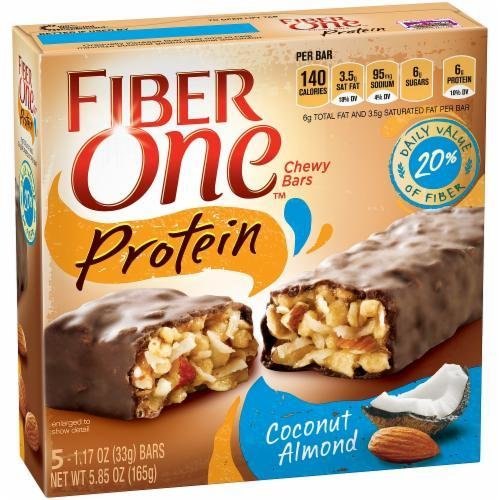 Cereal Bars, General Mills® Fiber One® Coconut Almond Nut Protein Bars (5.85 oz Box)