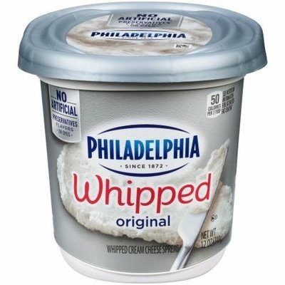 Whipped Cream Cheese, Kraft® Philadelphia® Original Whipped Cream Cheese (12.0 oz Tub)