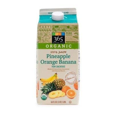 Juice Drink, 365® Organic Pineapple Orange Banana Juice (64 oz Carton)