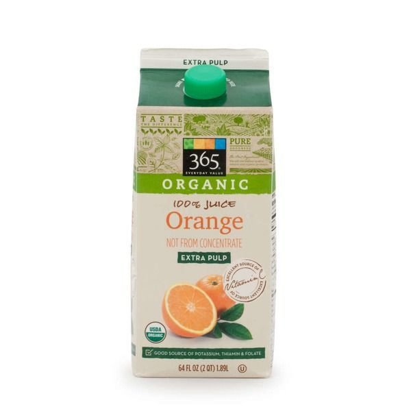 Juice Drink, 365® Organic Orange Juice with Extra Pulp (64 oz Carton)