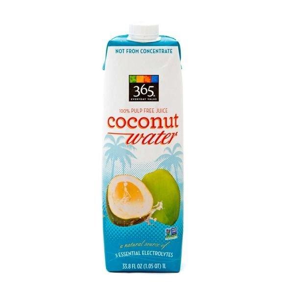 Coconut Water, 365® Coconut Water with No Pulp (33.8 oz Carton)