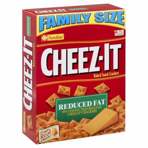 "Crackers, Cheez-It® ""Reduced Fat"" Family Size Crackers (19 oz Box)"