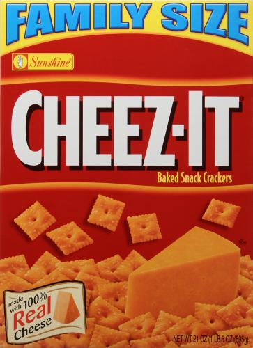 "Crackers, Cheez-It® ""Original"" Family Size Crackers (21 oz Box)"