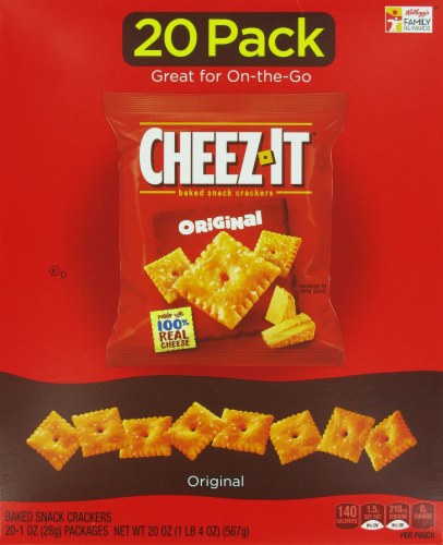 "Lunch Size Crackers, Cheez-It® ""Original"" Crackers (20 Count, 12 oz Box)"
