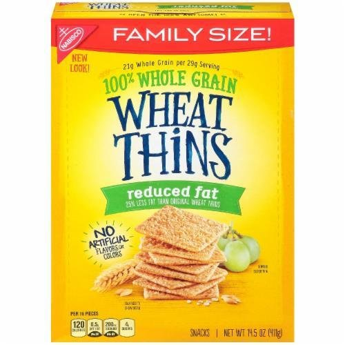 """Crackers, Nabisco® Wheat Thins® """"Reduced Fat"""" Crackers (16 oz Box)"""