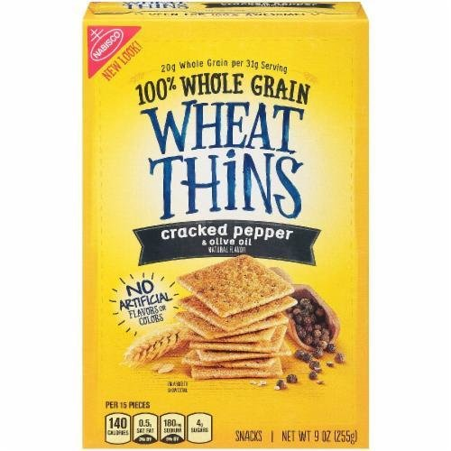 "Crackers, Nabisco® Wheat Thins® ""Cracked Pepper & Olive Oil"" Crackers (9 oz Box)"