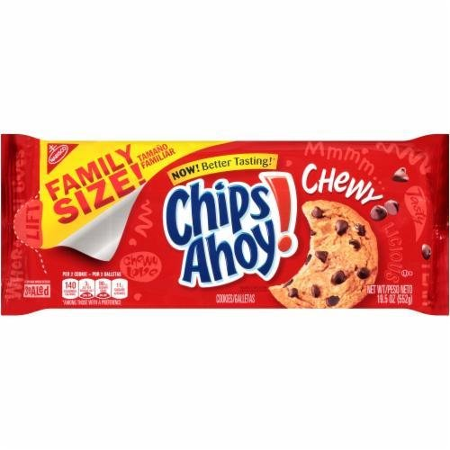 Cookies, Nabisco® Chips Ahoy® Chewy Chocolate Chip Cookies (Family Size, 19.5 oz Bag)