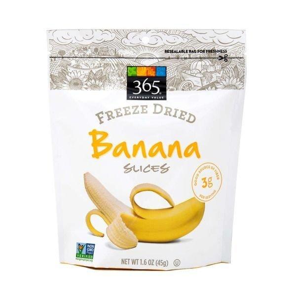Dried Fruit, 365® Freeze-Dried Banana Slices (1.6 oz Bag)