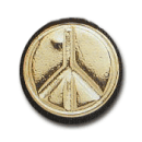 Wax Envelope Seal   841-H Peace Sign