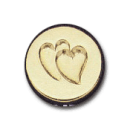 Wax Envelope Seal | 847-H Two Hearts
