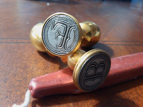 Envelope Wax Seal Tuscany - Letter F