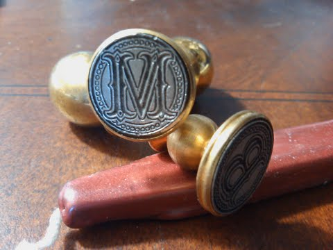 Envelope Wax Seal Tuscany - Letter M