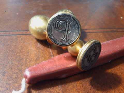 Envelope Wax Seal Tuscany - Letter P